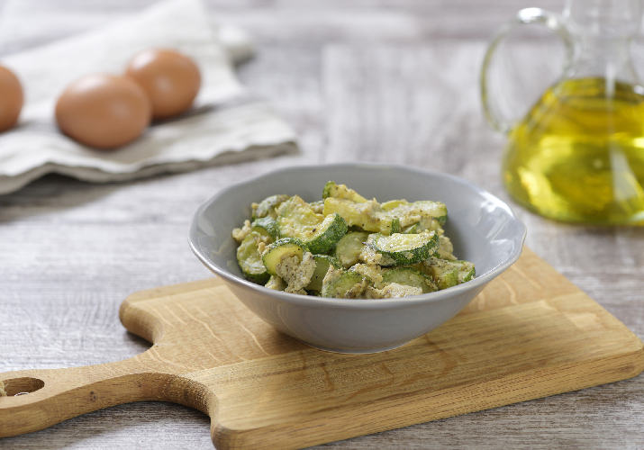 Zucchini with eggs